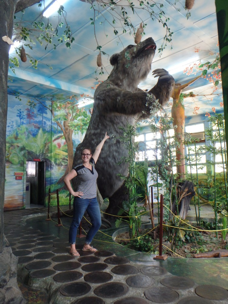 The Guyana National Museum's Giant Sloth animals in Guyana