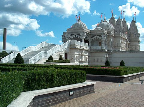 The Hindu Temple -Shri Swaminarayan Mandir religious centres in london to visit cool temples in london to see