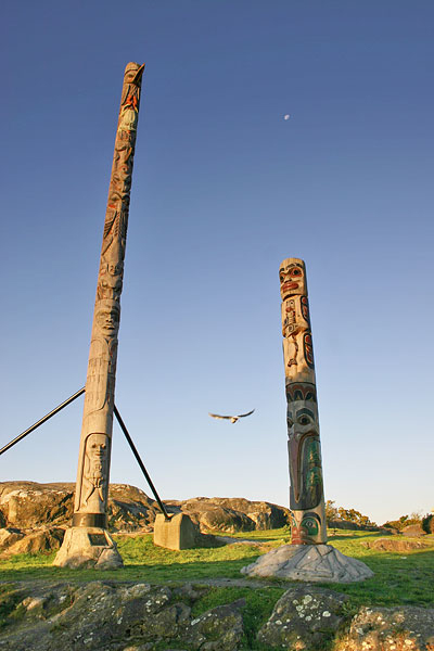 totem poles in Victoria British Columbia where to see totems on the west coast
