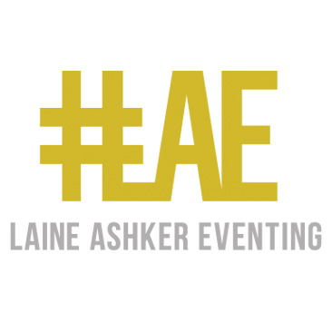 Laine Ashker Eventing logo by See Horse Design