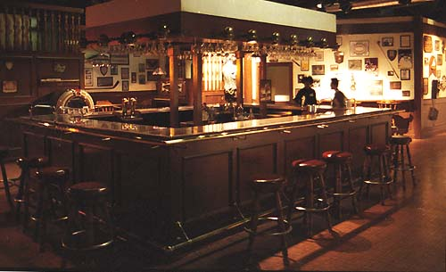 The Cheers bar  now at the Hollywood Entertainment Museum