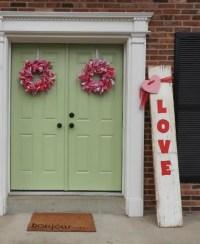 DIY Valentine Rag Wreaths For Double Front Door - Seeing Dandy