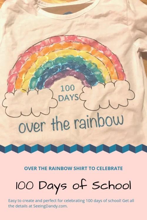 small resolution of DIY 100th Day of School Rainbow Shirt - Seeing Dandy