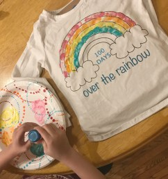 DIY 100th Day of School Rainbow Shirt - Seeing Dandy [ 2346 x 2845 Pixel ]