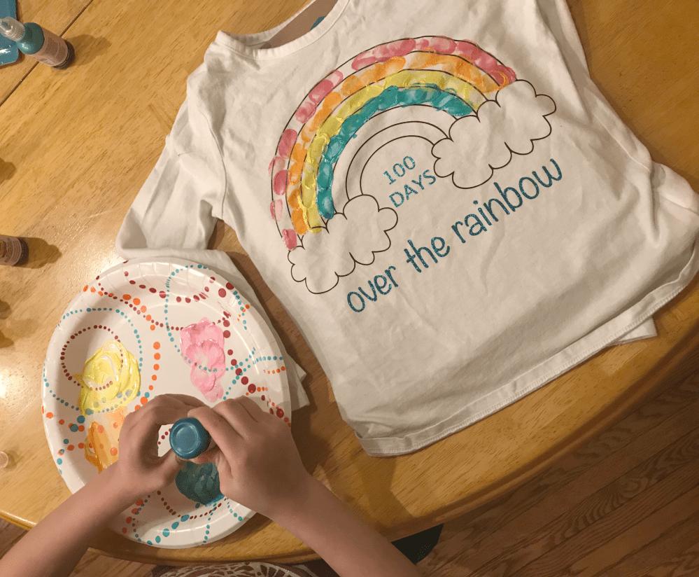 medium resolution of DIY 100th Day of School Rainbow Shirt - Seeing Dandy