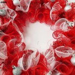 Diy Deco Mesh Wreath Easy To Make Red Sparkle Seeing Dandy