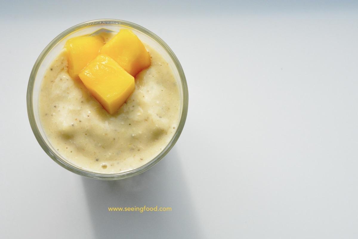 Mango chia seed smoothie