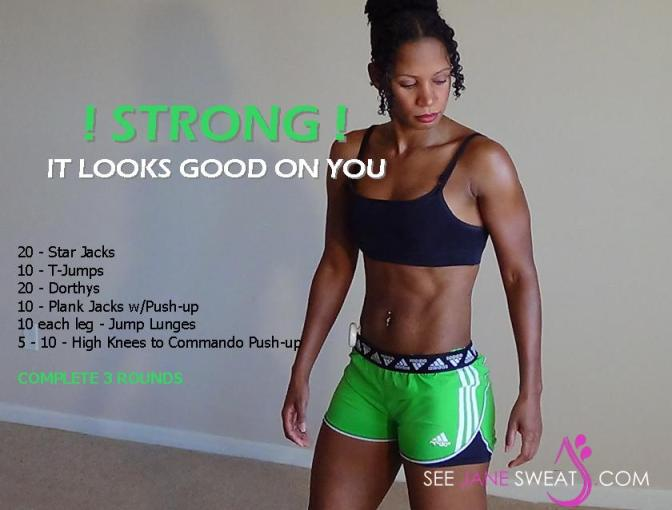 Strong it looks good on you
