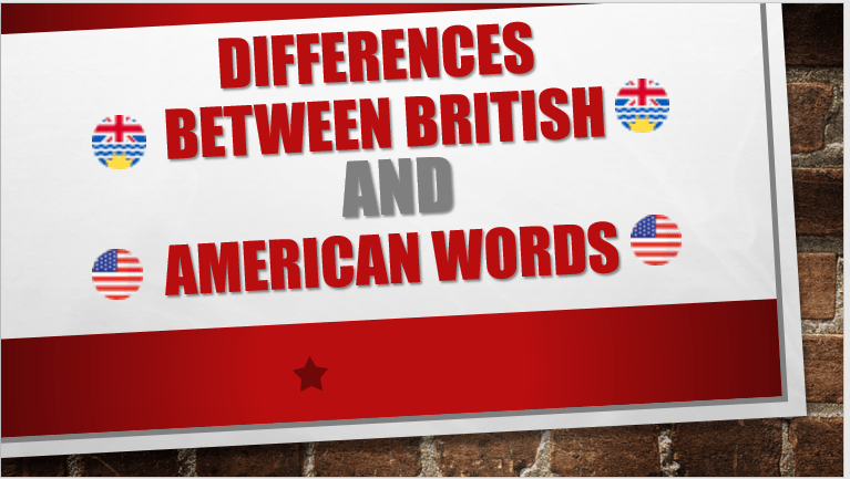 Differences Between British And American Words