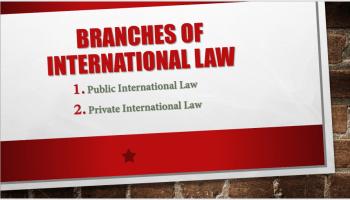 Name of two International law that is Public and Private international law