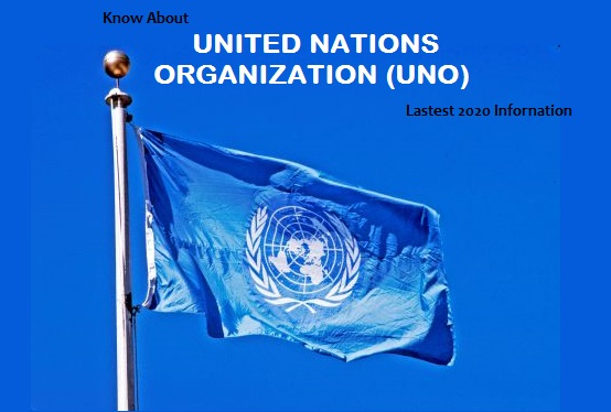 United Nations Organization (UNO) flag in flying higher