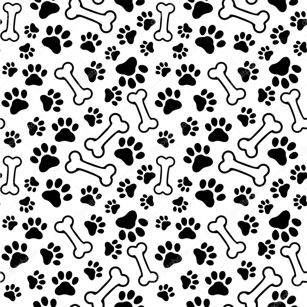 Puppy Paw Print Background Seamless Background Pet Paw HQ