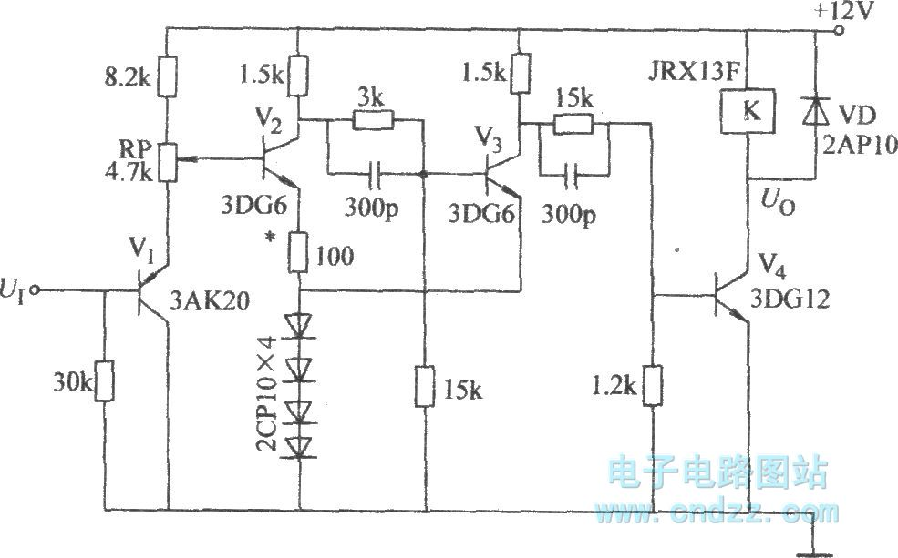 Emitter-coupled bistable circuit with threshold voltage