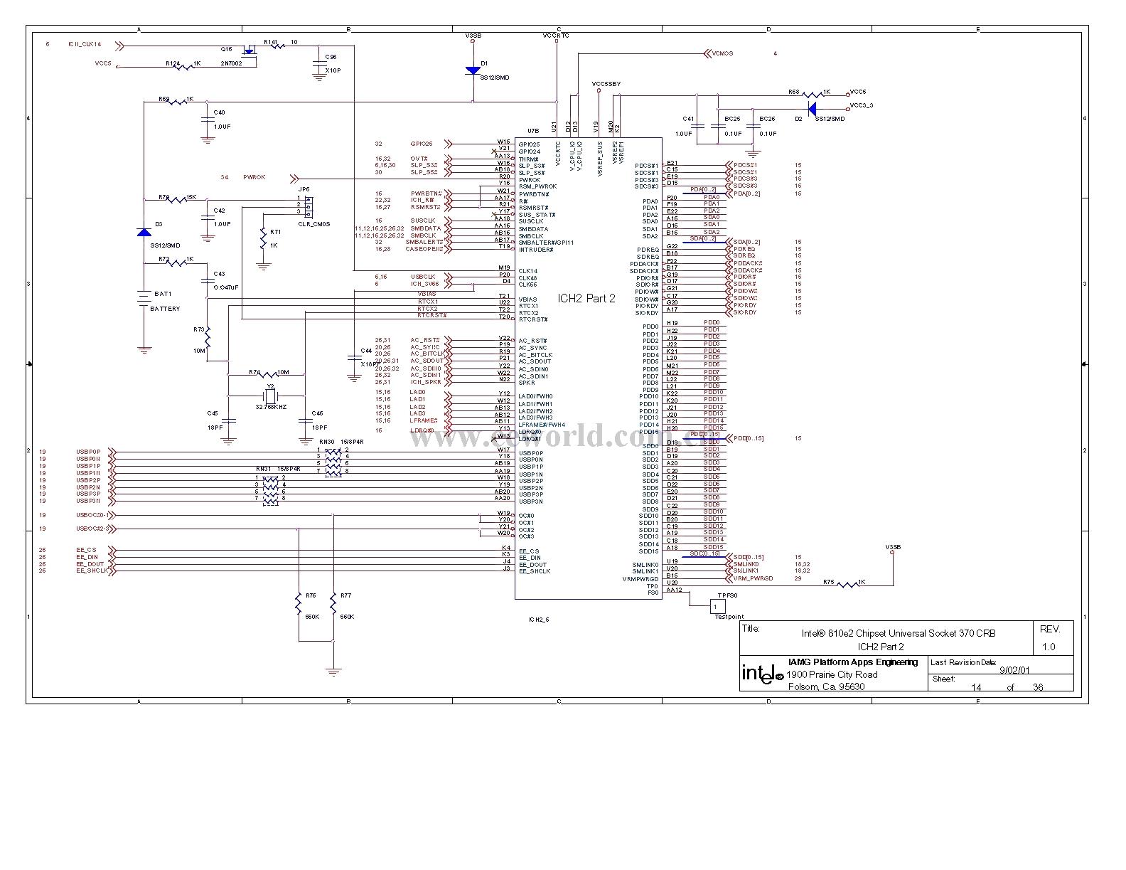 810 Computer Motherboard Circuit Diagram 14