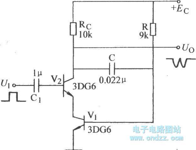 Capacitance negative feedback zigzag wave circuit (2