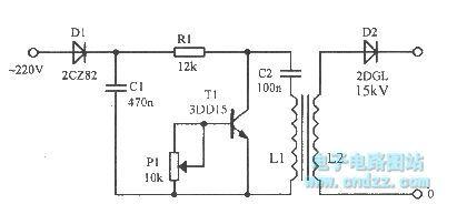 The oscillator circuit using transistor second breakdown