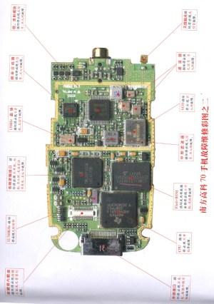Soutec 70 mobile phone repairing diagram 2  Electrical