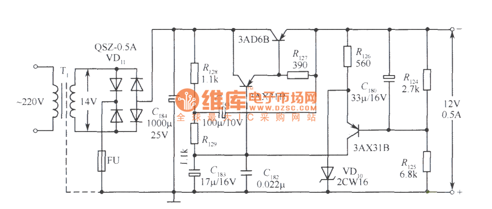 medium resolution of 12v voltage stabilizer simple circuit no 4 power supply circuit 12 volt voltage regulator circuit diagram 12v voltage stabilizer circuit diagram