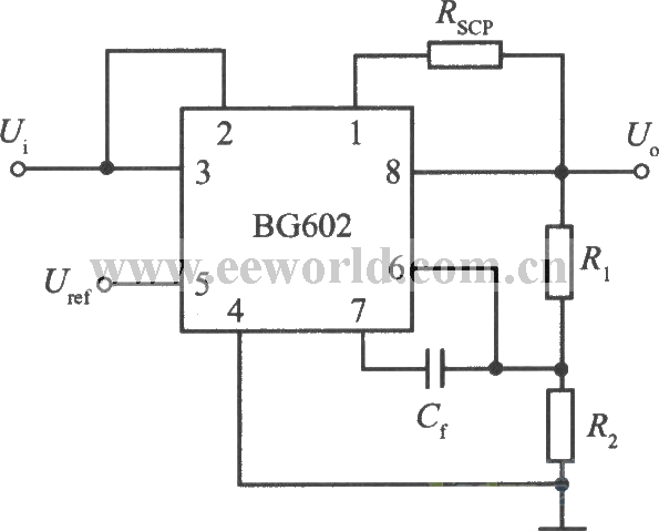 Standard application circuit of 8end adjustable output