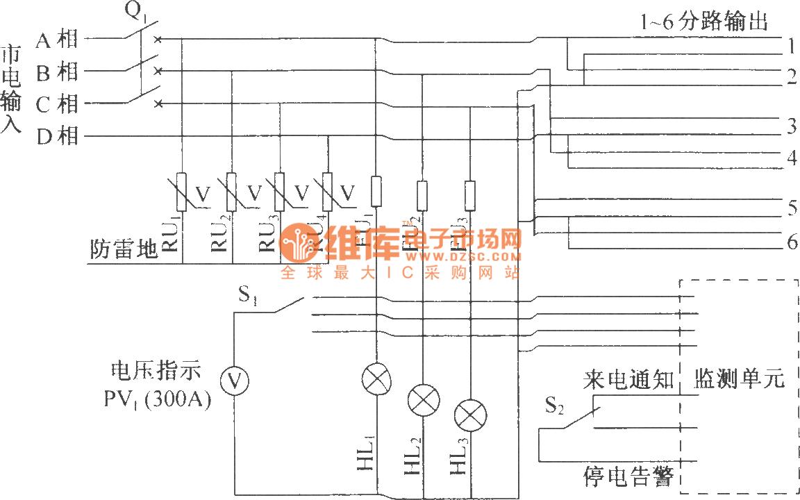 DUT07 AC Distribution Box Electrical Schematic Diagram