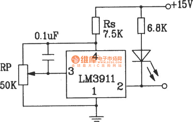 Two-supply temperature measurement circuit composed of