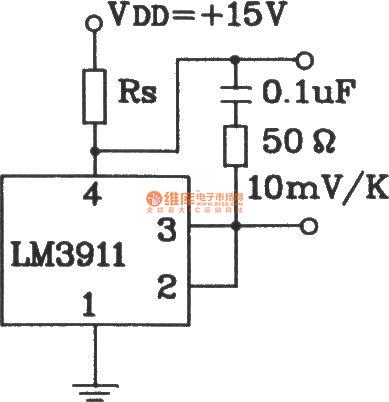 Capacitive load temperature measurement circuit composed