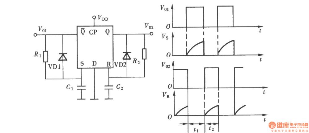 medium resolution of the multivibrator composed of d flip flop