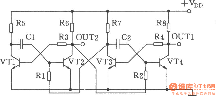 The separate excitation crossover multivibrator