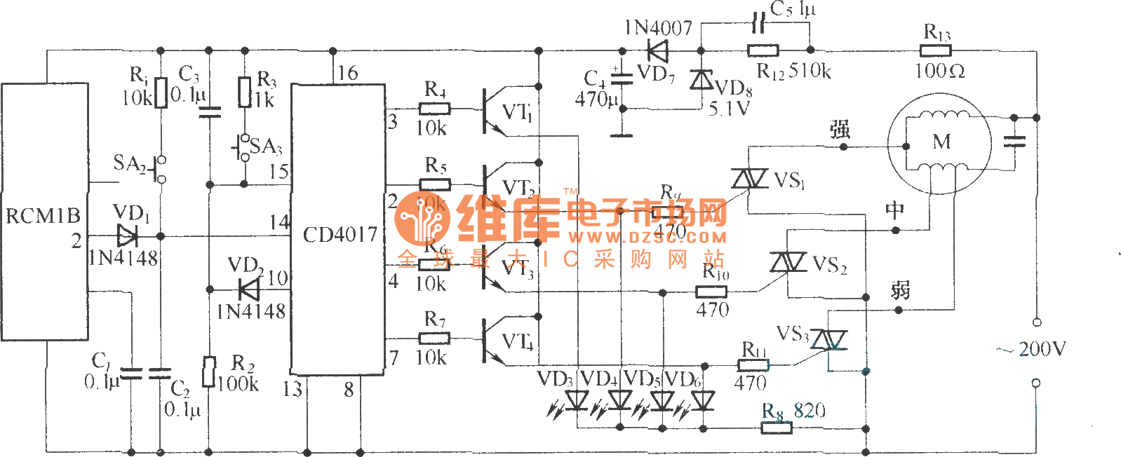 hight resolution of wireless remote control fan speed controller circuit diagram rcm1a rh seekic com gama electronics remote wiring diagram remote control circuit board