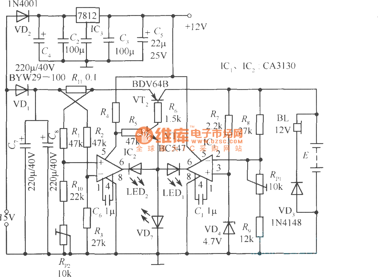 Automotive Batteries Charger Circuit