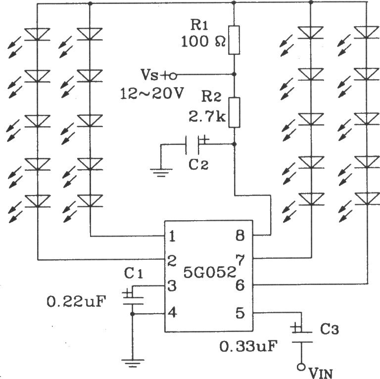 Typical application circuit of audio synchronous color