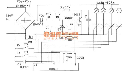 small resolution of color lamp control circuit composed of sh808 multifunction music lampcontrol ledandlightcircuit circuit diagram seekiccom
