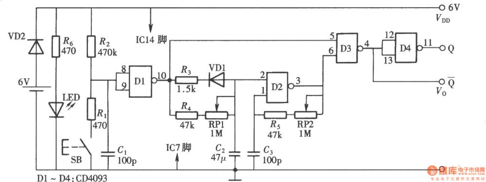 medium resolution of pulse and pulse train generator composed of cd4093 pulsetrain basiccircuit circuit diagram seekiccom
