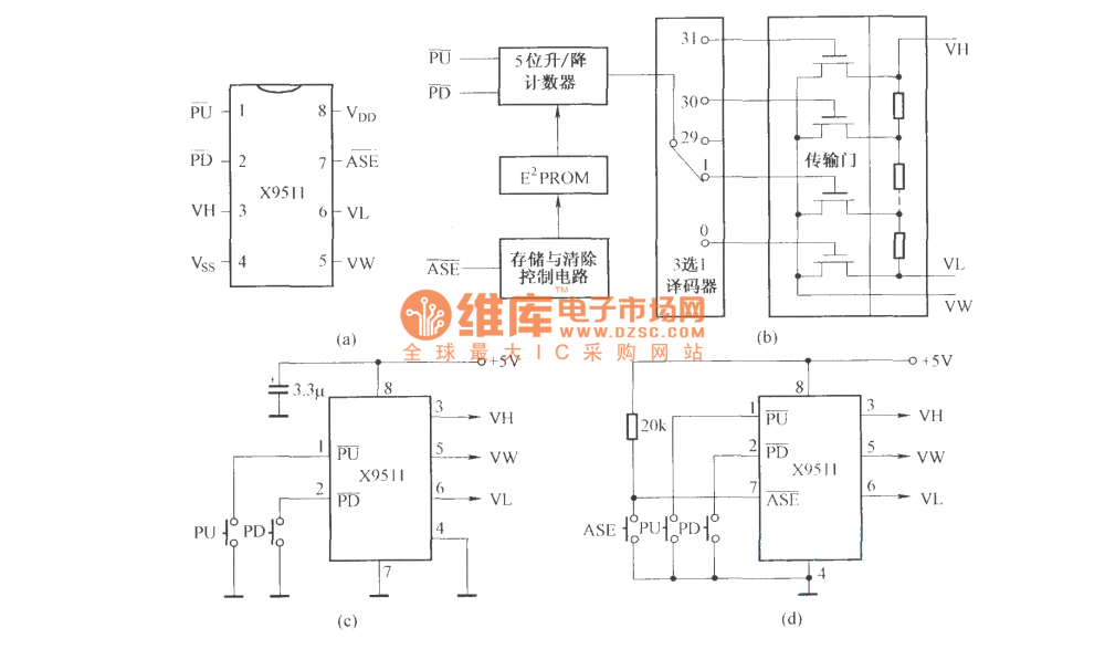 medium resolution of digital potentiometers x9511 circuit diagram digital circuit digital potentiometers x9511 circuit diagram
