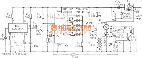 small resolution of ir remote control dimmer light switch circuit ka2184a