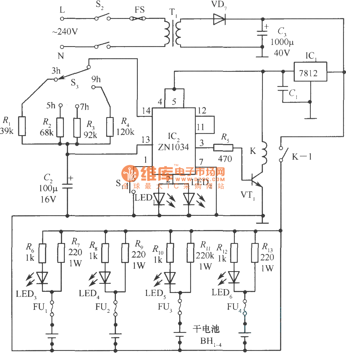Dry Battery Charger Circuit Diagram
