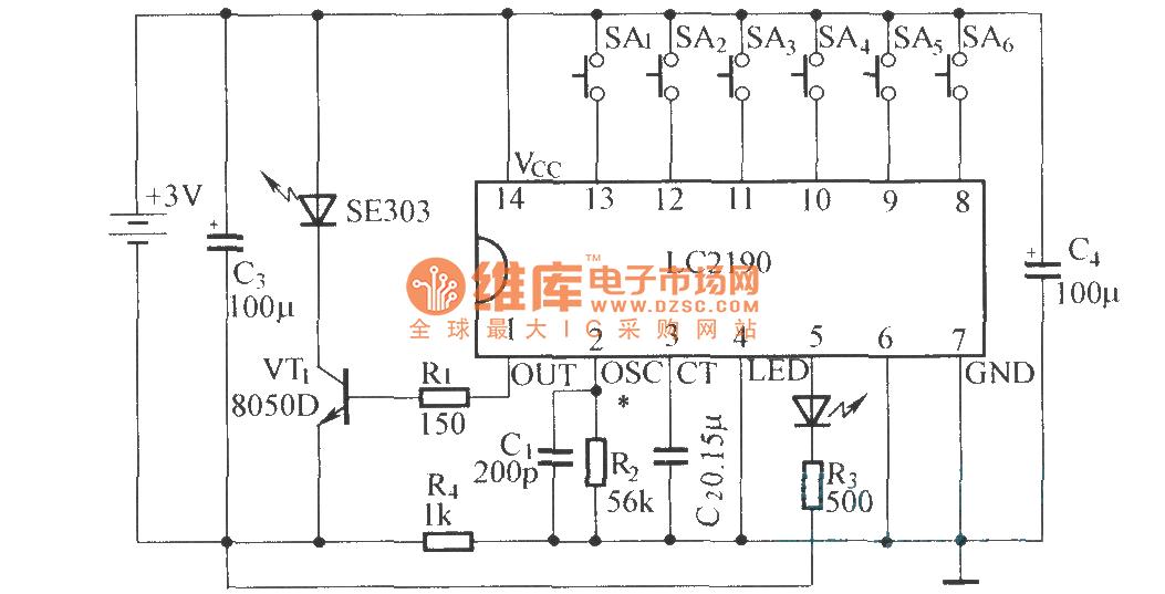 LC2190 principle and application circuit diagram