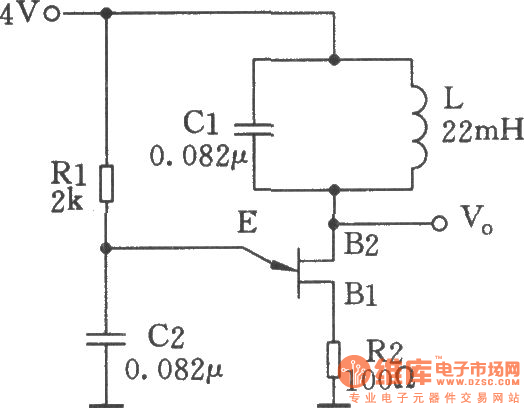 Single-junction transistor sine wave oscillator