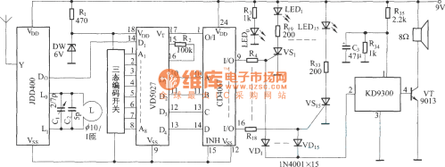 small resolution of pyroelectric detection wireless security system circuit diagram