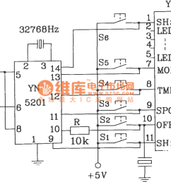 yn5101 5201 multi channel infrared remote control encoder and decoder typical application circuit diagram [ 1265 x 715 Pixel ]