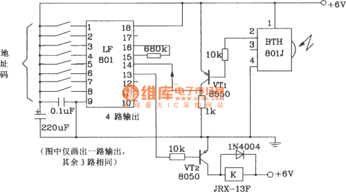 small resolution of transmitter and receiver circuit composed of bth 801f 801j infrared infrared remote control circuit diagram automotivecircuit circuit