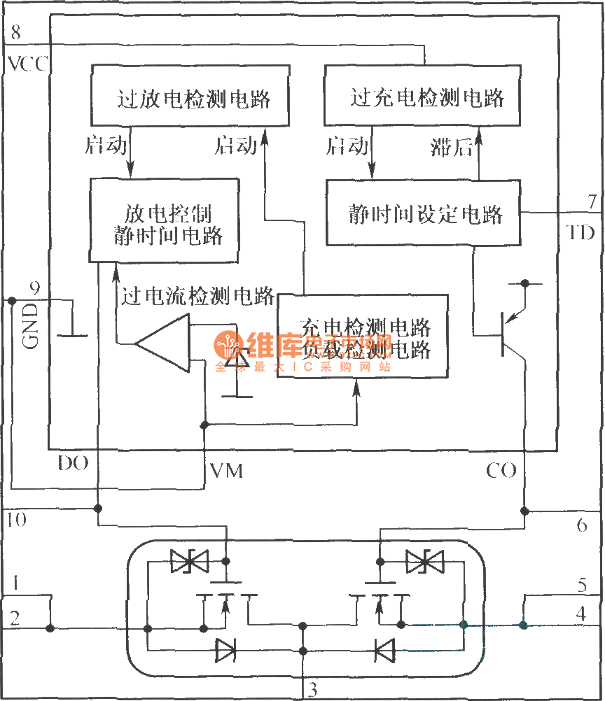 medium resolution of mcp component mml521xv internal structure block diagram and its protection circuit