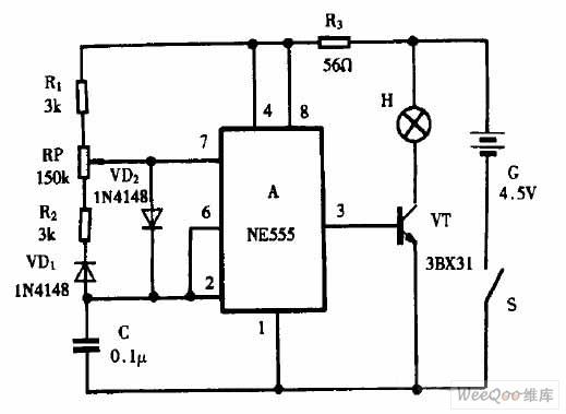 Flashlight Retrofitting Light Modulator Circuit