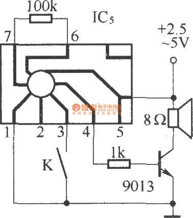 Against Electric Shock Language Warning Circuit Diagram