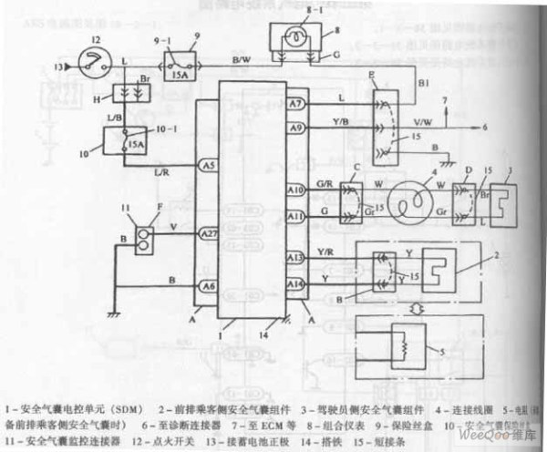Chang antelope car air bag system circuit diagram