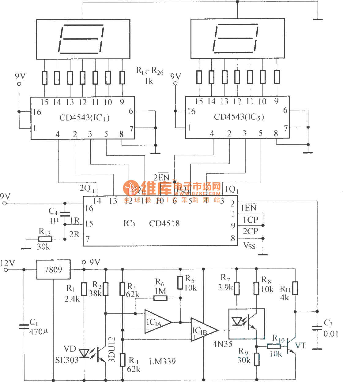 hight resolution of digital displaying photoelectric counter circuit diagram digital displaying photoelectric counter circuit diagram