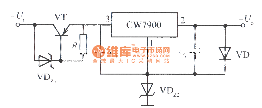 High input-high output voltage integrated regulated power