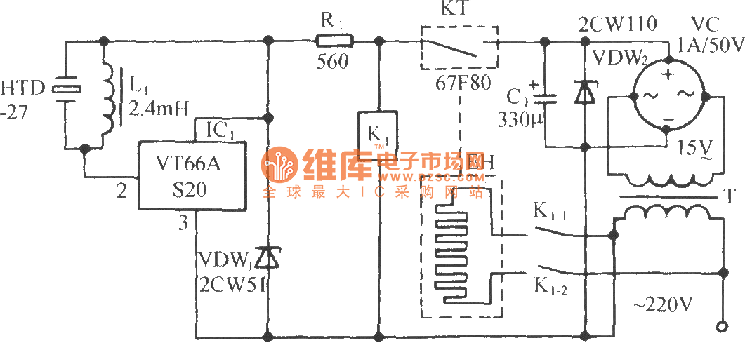Electric Oven Control Circuit With The AIRPAX67F Temperature