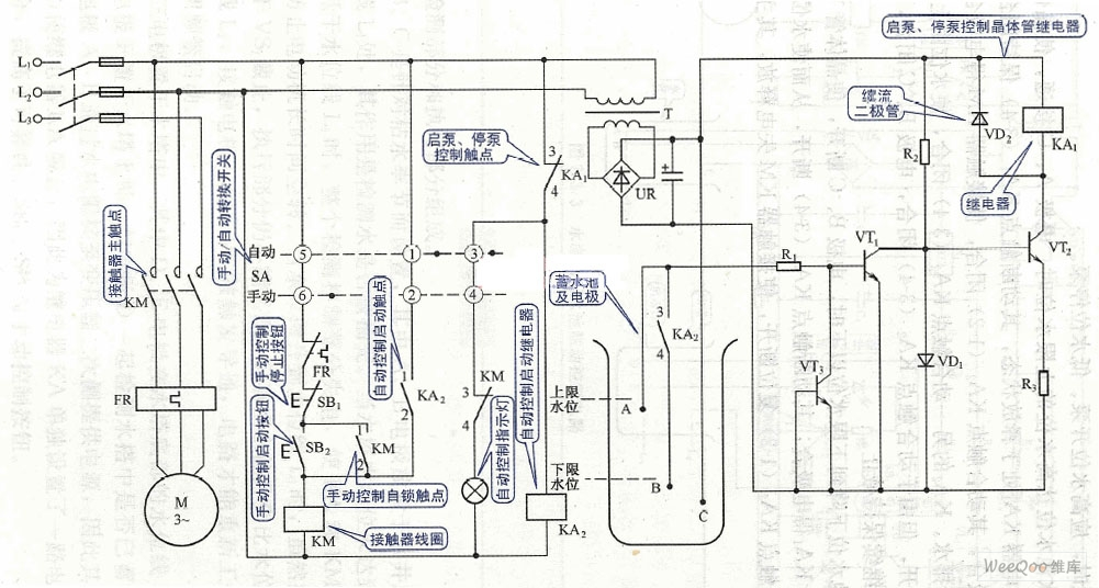 Extraction type water level control circuit diagram