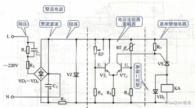 Power bridge temperature protection relay circuit diagram